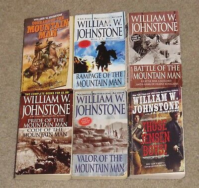 Lot of 6 western paperbacks by William W. Johnstone