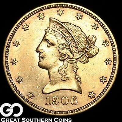 1906 Eagle, $10 Gold Liberty, Lovely Swirling Luster ** Free Shipping!
