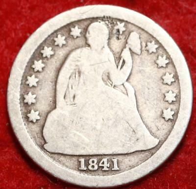 1841-O New Orleans Mint Silver Seated Liberty Dime