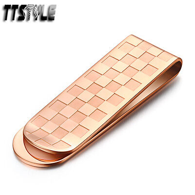 High Quality TT Rose Gold 316L Stainless Steel Money Clip (MC09Z)