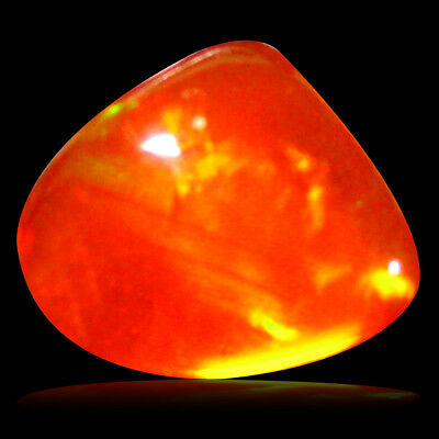 0.86 ct AAA Terrific Fancy Cabochon Shape (8 x 7 mm) Red Fire Opal Gemstone