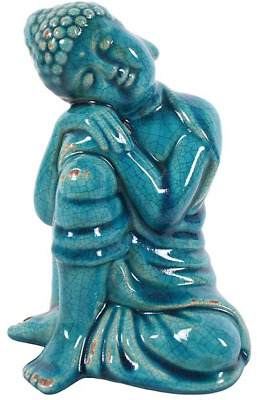 Blue Ceramic Thai Buddha