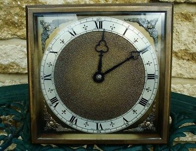 Vintage Rare Elliott Of London 8 Day Bronzed Brass Strut/mantel Clock