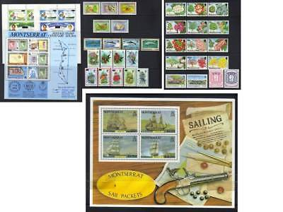 (298) Montserrat Qeii Mostly Mnh Collection Incl Sets & Ms
