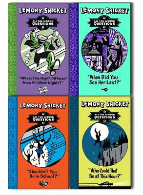 Lemony Snicket All The Wrong Questions 4 Books Set When Did You See Her Last?...