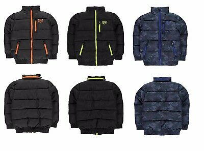 Boys Everlast Fleece Lined Quilted Bubble Jacket Coat age 7 8 9 10 11 12 13 BNWT