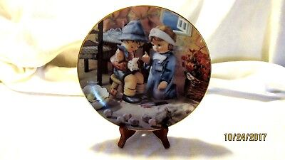 M J Hummel Little Companions Tender Loving Care Plate Danbury Mint 1989 LL7024
