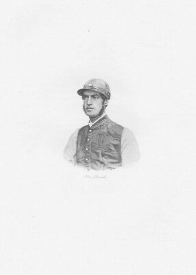 TOM FRENCH Victorian Jockey - Antique Print 1908