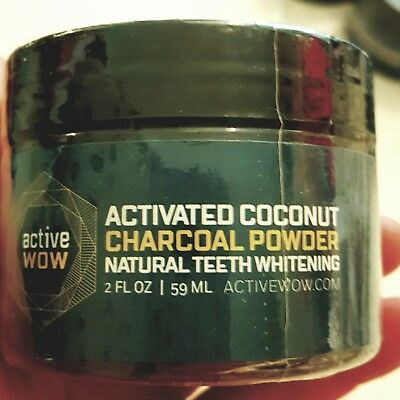 Active Wow Teeth tooth Whitening - Activated coconut Charcoal Powder Natural  UK
