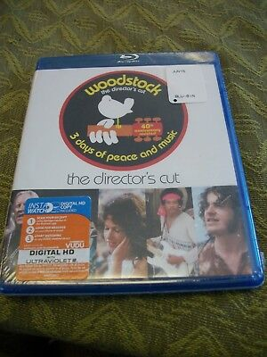 Woodstock the Director's Cut ~ New Blu-Ray 3 Discs ~ Classic Rock (1970)