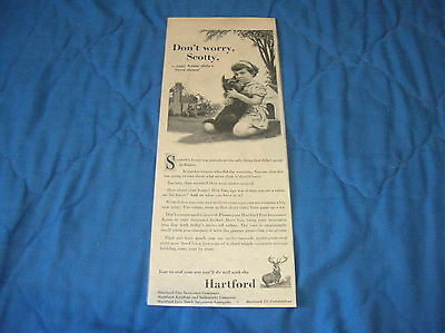 Small Magazine Ad - Hartford with Scotty Dog - Original - 1952
