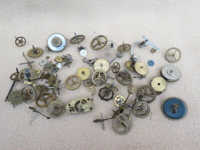 Collection Of Antique And Vintage Clock Parts