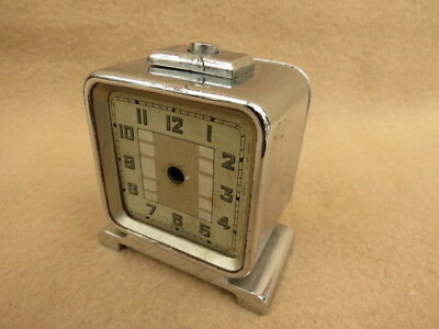Small Art Deco German Chrome Plated Alarm Clock Case