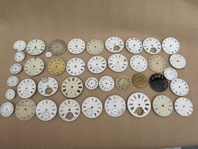 Collection Of Antique Pocket Watch Dials For Spares Or Repair