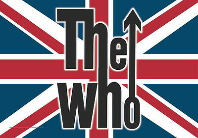 "Who The Who Flagge / Fahne ""union Jack Logo"" Posterflagge Poster Flag"