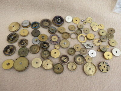 Collection Of Antique Fusee And Other Pocket Watch Spring Barrels, Covers, Etc