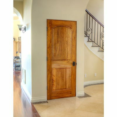 "Pre-Hung or Slab 24""x80"" INTERIOR Mahogany 2 Panel Arched Wood Door (1-3/4"") ETO"