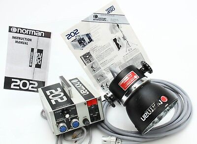 Norman 202 Power Pack only w/ LH4 flash head fully tested works 369697