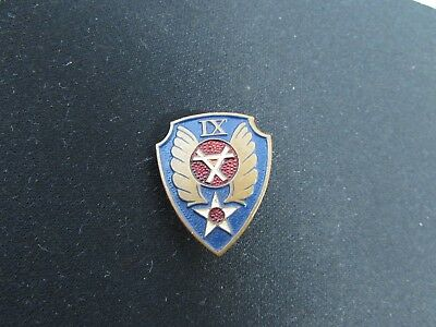 WWII U.S. German Made AAC 9th Engineer Command Patch Crest DI Screwback