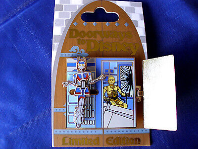 Disney * DOORWAYS TO DISNEY - STAR TOURS - C3PO * New Hinged Slider LE Pin