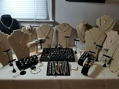 Huge lot of gemstone jewelry gold/silver tone .925 vermeil 12kgf over 175pc!!