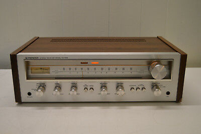 vintage silver face PIONEER SX-550 AM-FM STEREO RECEIVER ~VERY NICE~