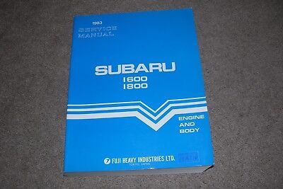 1983 Service Manual Subaru 1600 1800 Engine & Body