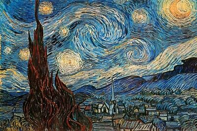 The Starry Night 1889 By Vincent Van Gogh Art Poster 12x18 inch Poster 18x12