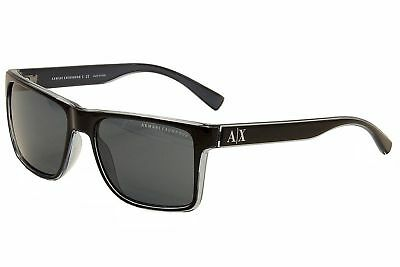 b8295cd6ee92 ARMANI EXCHANGE AX 4016 Unisex Sunglasses Black Transp. Blue Grey 57 ...
