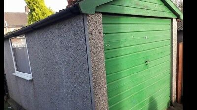 CONCRETE  SECTIONAL GARAGE 16Ft X8FT DISASSEMBLED  PLEASE READ INFO MACCLESFIELD