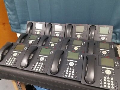 Lot of 12 Avaya 9630 VoIP Business Phones with stands and handsets!