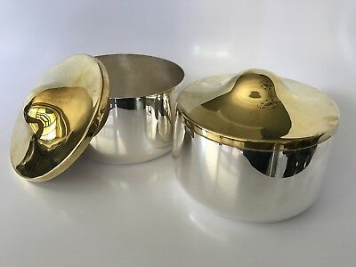 Hard To Find Matched Pair Of Signed Eric Schmitt For Christofle Bowls $5K New!