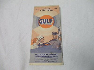 1930 No. 3 Gulf gasoline oil gas station road map