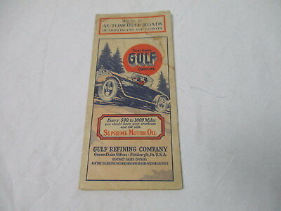 Late 1920's Gulf gasoline oil gas station Map No. 21 road map