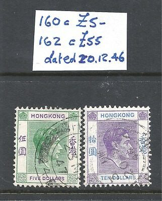 Two Hong Kong KGV1 stamps, $5 and $10, cat £60,1938-52