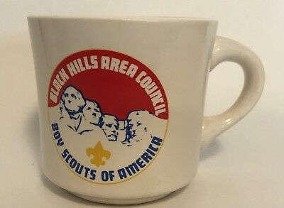 Black Hills Area Council Ceramic Coffee Mug BSA Boy Scout Mount Rushmore W16