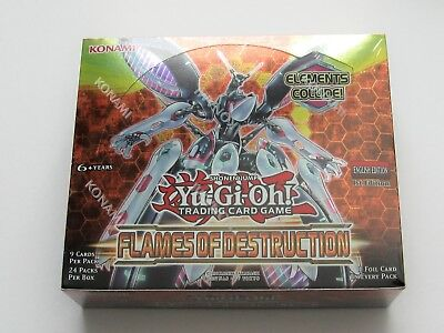 YUGIOH FLAMES of DESTRUCTION  Booster Box 1st ed Sealed  Yu-Gi-Oh tcg 24X9 CARDS