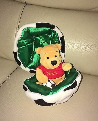 Rare Official Disney Store Winnie the Pooh 2002 Fifa World Cup Football Soft Toy