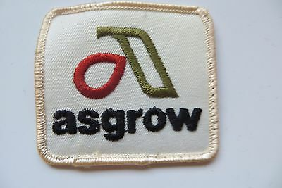 Asgrow farming feed & seed company original advertising agriculture logo patch
