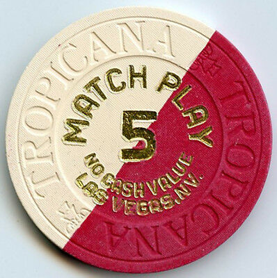 Tropicana Hotel/Casino - Las Vegas - Three x $5 Match Play Chips - 1983