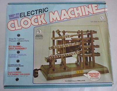 1980 Vintage Arrow Electric Ball Clock Machine Snap-Fit Assembly Kit New Unbuilt