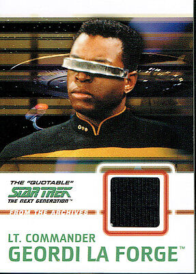 The Quotable Star Trek The Next Generation Costume Card C5 Laforge Blac