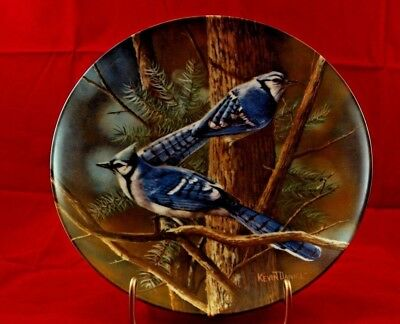 """Edwin M. Knowles 1985 Birds of Your Garden """"The Blue Jay"""" by Kevin Daniel"""
