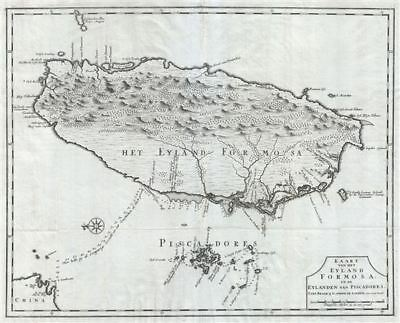 1726 Valentijn Map of Taiwan or Formosa