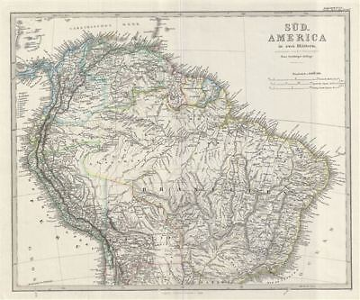 1873 Stieler Map of the Northern part of South America