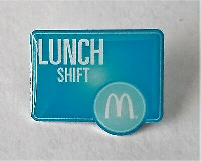 New McDonald's Lapel Pin Lunch Shift Phrase