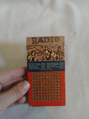 "Rare Vintage ""radio"" Mini Punch Board New"