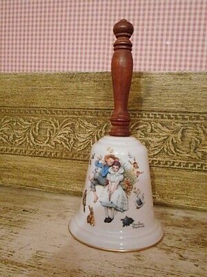 """Gorham Fine China """"loves Harmony"""" 1975 Norman Rockwell Bell"""
