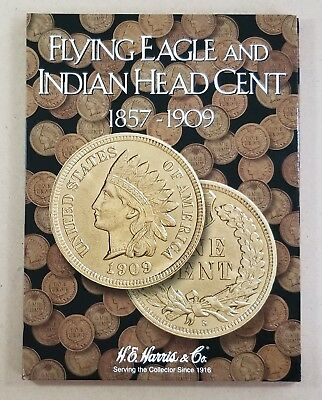 Flying Eagle & Indian Head Penny Collection 1857-1909 (53 Coins) in Folder