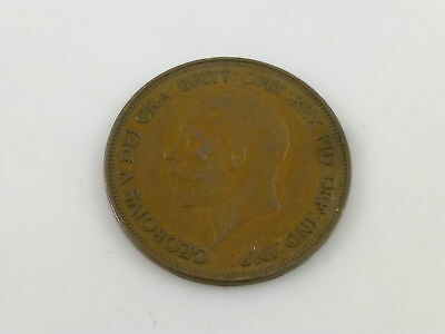 1936 England One 1 Penny King George V Coin